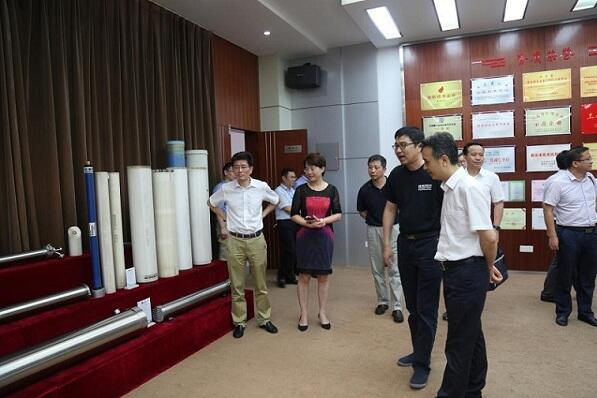 Vice mayor visit Kaimi Membrane for wastewater treatment guidance.jpg